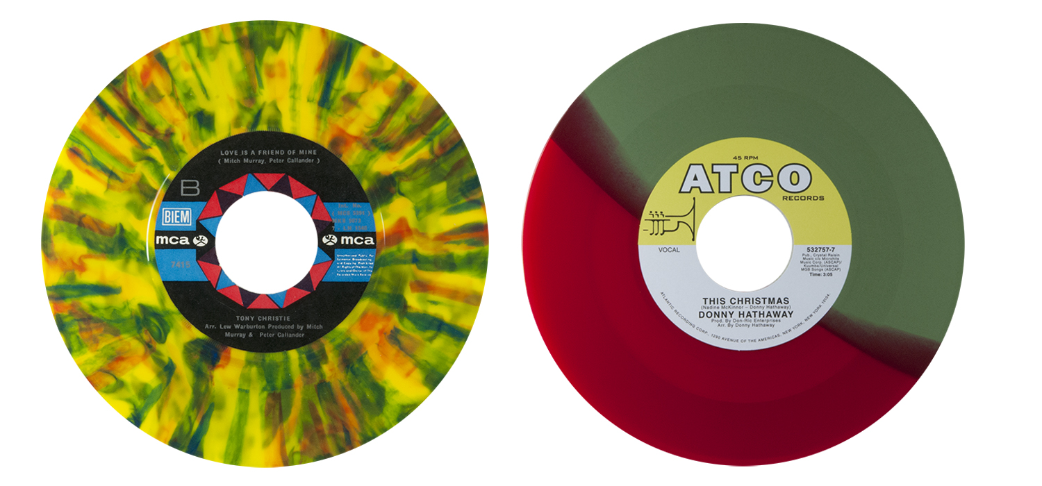 colored vinyl row 5